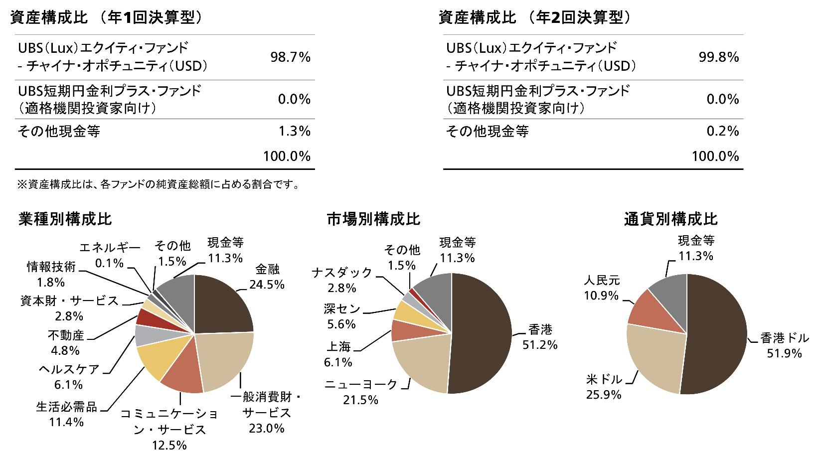 UBS中国新時代株式ファンドの投資ポーション