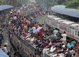 バングラデシュが人口っ過密であることが分かる画像