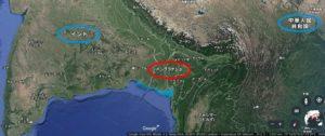 バングラデシュの位置